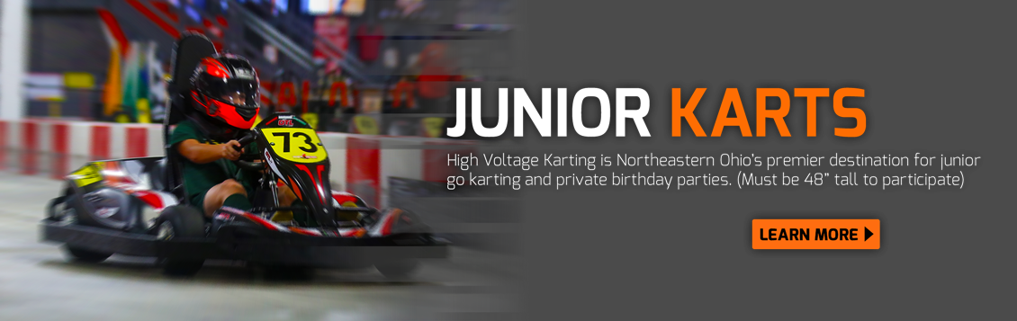 Junior Karts at High Voltage Indoor Karting, near me in Cleveland, Ohio