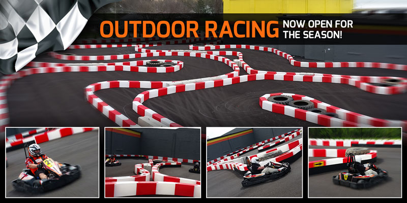 Outdoor Track | High Voltage Indoor Karting | Go Karts in Medina